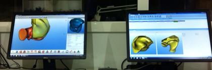 Fabricación de moldes para audífonos